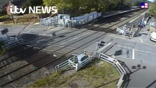 Shocking video shows level crossing prank