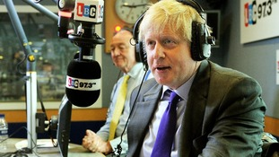 London Mayor Boris Johnson and his rival Ken Livingston