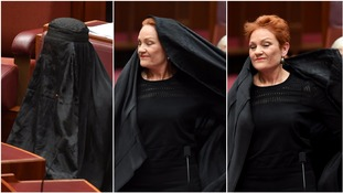 Senator rips off burka in Parliament to call for its ban in 'appalling' stunt