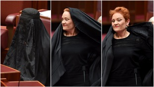 Pauline Hanson drew ire after wearing a burka to Australia'a Parliament.