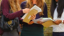 Students receive results from revamped A-level exams