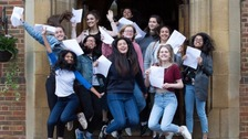 A-levels: First rise in top grade results for seven years