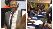 Sir Lenny Henry joins university Clearing hotline as students pick up A level results