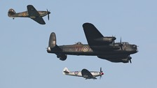 The Battle of Britain Memorial Flight in action