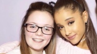 Georgina with her hero Ariana Grande, whose concert she died at.