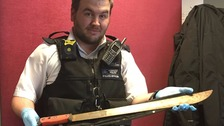 Police recover four-and-a-half foot machete
