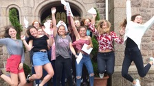 Students receive their A-Level results