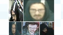 Images of the man police are trying to trace.