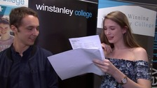 VIDEO: Youngsters from Parrs Wood High receive A-level exam results