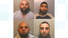 Muzaffer Ali, Haroon Khatab, Sajid Khan and Khalid Hussain were all jailed for plotting to import guns