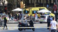 Fatalities after van ploughs into crowds in Barcelona