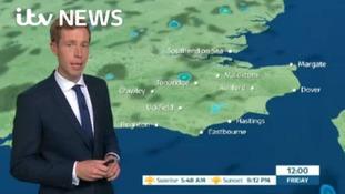 Friday's forecast for east of region