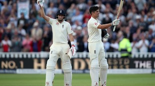 Root lights up Edgbaston with 13th Test century as he and Cook put England in control