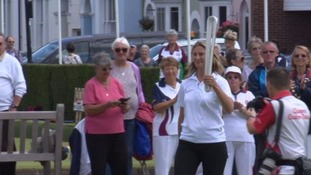 Commonwealth Baton arrives in Leamington