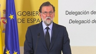 Mariano Rajoy said his country is mourning with Barcelona.