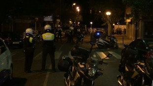 Police at the scene in Cambrils.