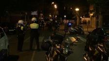 Police at the scene in Cambrils.