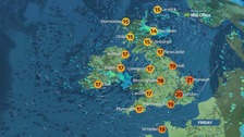 Risk of hail and thunder in places after a bright start