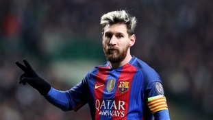 Lionel Messi was among the footballers to express their shock and sadness