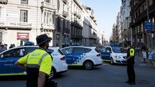 Police in Barcelona