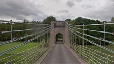 Vandals graffiti Borders bridge before reopening