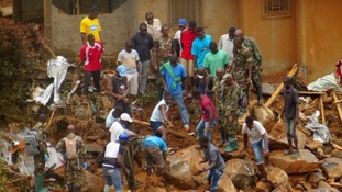 Sierra Leone mudslides death toll rises to over 400 as hundreds remain missing