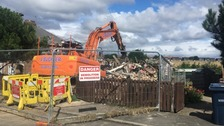 Demolition work was carried out following the explosion