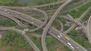 Spaghetti Junction in Birmingham