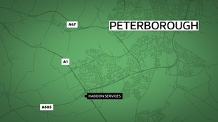 A driver has been killed in a crash between a car and a lorry on the A605 near Peterborough.
