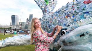 Jodie Kidd unveiled the whale in London earlier this month.