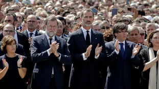 PM Mariano Rajoy (left) and King Felipe VI (right) attended the gathering