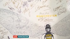 Manchester attack: Painting with Tony Walsh's poem on is sold at auction for £7,100