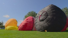 Breezy weather grounds balloons at Northampton Festival