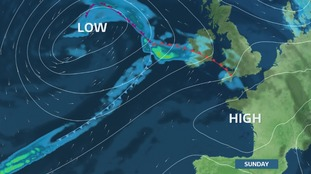High pressure for the middle of the weekend.  Low pressure could bring some rain later Sunday into Monday, but still uncertain of exact track and intesity