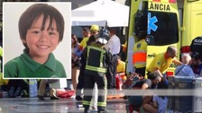 Fears for boy, 7, missing after Barcelona attack