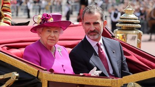 King Felipe visited the UK last month.