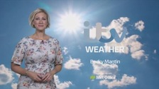 Sunny spells and heavy showers this afternoon