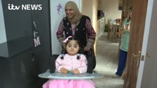 Maham returning home with her mother