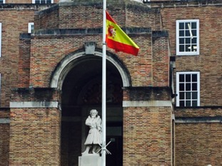 The Spanish flag at Bristol City Hall has been lowered.
