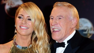 Sir Bruce with fellow Strictly Come Dancing host Tess Daly