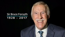 'He was all toe-tapping twinkle': Tributes paid to Sir Bruce Forsyth