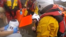 Lifeboat crew rescue man after he falls off cliff in Torbay