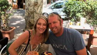 Jared Tucker, one of the victims of the Barcelona attack, with his wife Heidi Nunes