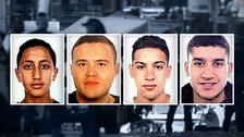 Police hunt four suspects over Spain attacks