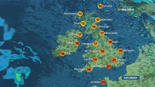 A windy day for many with sunshine and showers