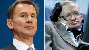 Hunt denies Hawking's claims he 'cherry-picked' research to justify NHS reforms