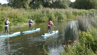 The paddle boarders set out from Kempston