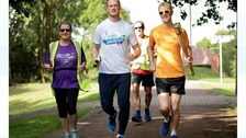 Greg Rutherford taking part in Parkrun