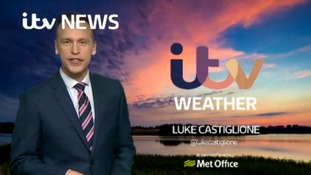 Saturday evening's weather for the east of the region