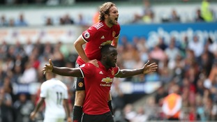 Lukaku scores again as Man Utd hit Swansea for four